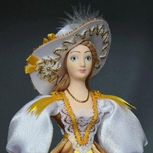 Куклы-светский исторический костюм