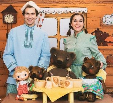 """Спектакль """"Маша и медведи"""" (театр """"Тутти""""), 12 марта в 13-00, в Санкт-Петербургском Музее кукол."""